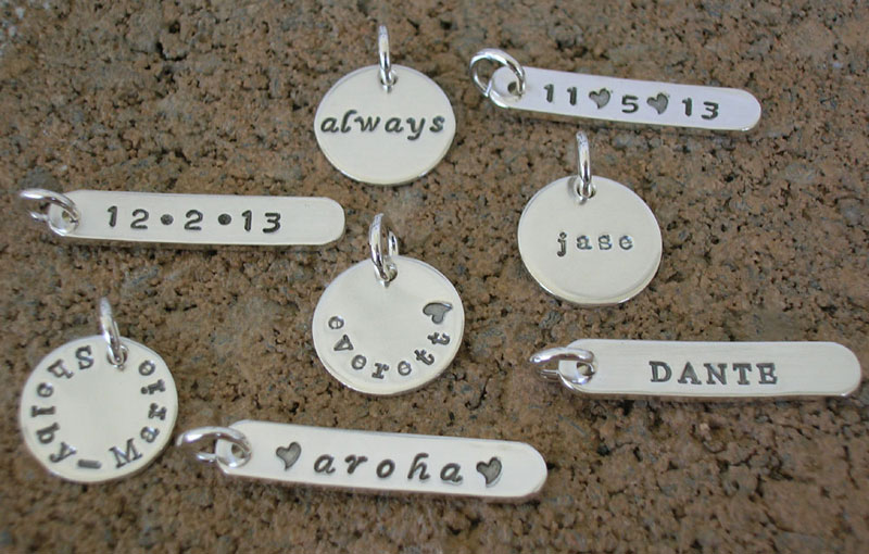 Add On Charm Personalized Jewelry  Sterling Silver Charms