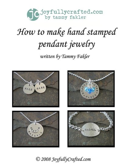 How to make hand stamped jewelry ebook for How to make hand stamped jewelry