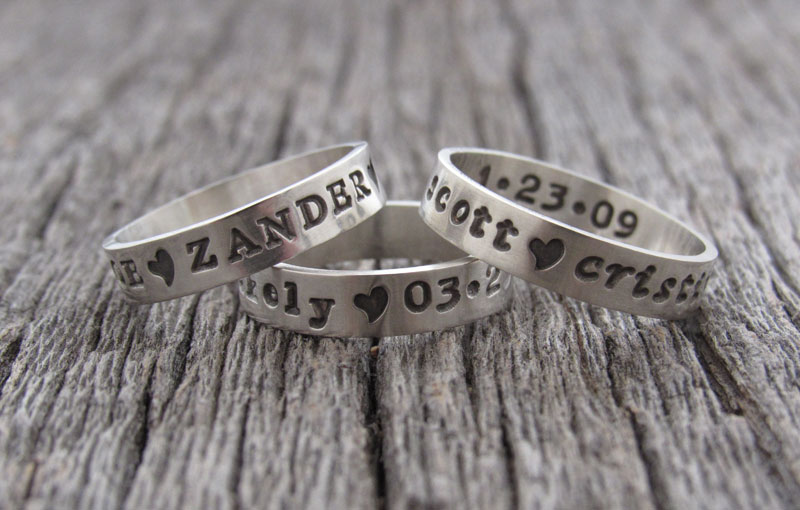 Posey Hand Stamped Jewelry Personalized Jewelry Sterling Silver Ring
